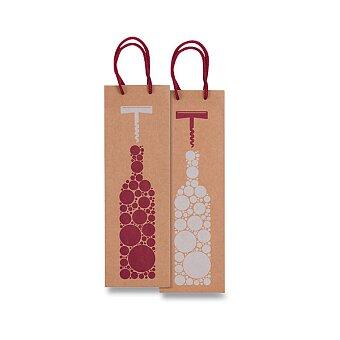 Obrázek produktu Dárková taška na víno Sadoch Bottiglia Kraft - 12 x 9 x 37 cm