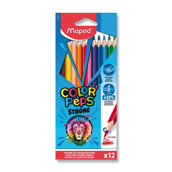 Pastelky Maped Color'Peps Strong 12 barev