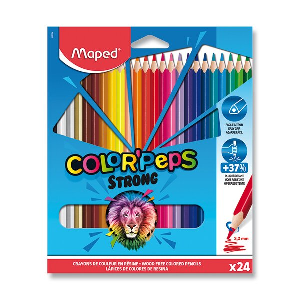 Pastelky Maped Color'Peps Strong 24 barev