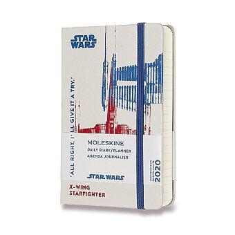 Obrázek produktu Diář Moleskine 2020 Star Wars, tvrdé desky - S, denní, bílý