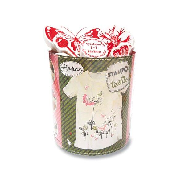 Razítka Aladine Stampo Textile Motýlí zahrada, 28 ks