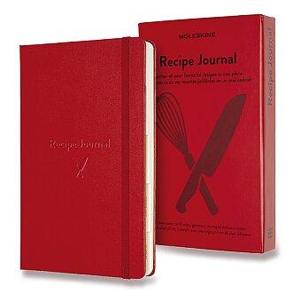 Obrázek produktu Zápisník Moleskine Passion Recipe Journal - tvrdé desky - L, červený
