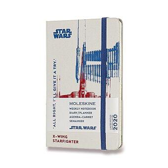 Obrázek produktu Diář Moleskine 2020 Star Wars, tvrdé desky - S, týdenní, bílý
