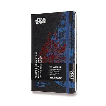 Obrázek produktu Diář Moleskine 2020 Star Wars, tvrdé desky - L, týdenní, černý