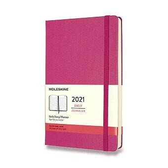 Obrázek produktu Diář Moleskine 2021 - tvrdé desky - L, denní, magenta