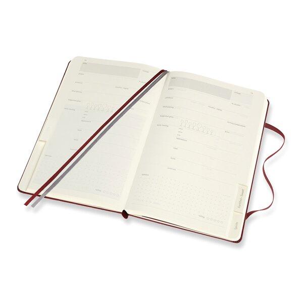 Zápisník Moleskine Passion Wine Journal, otevřený