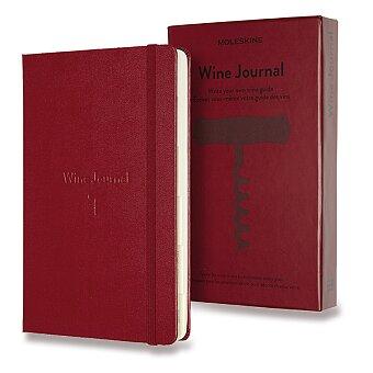 Obrázek produktu Zápisník Moleskine Passion Wine Journal - tvrdé desky - L, vínový