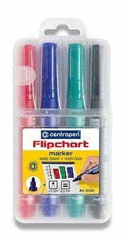 Obrázek produktu Popisovač Centropen Flipchart Market 8550 - sada 4 barev