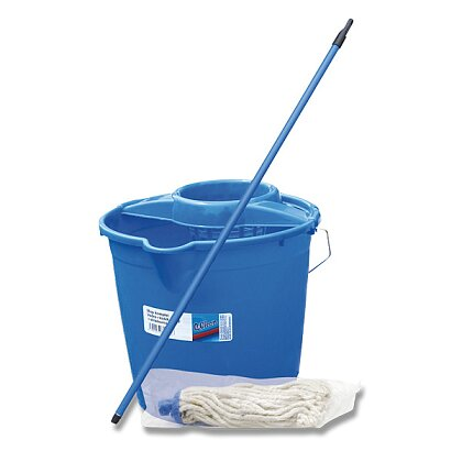 Product image Q Clean - set with a mop handle and bucket