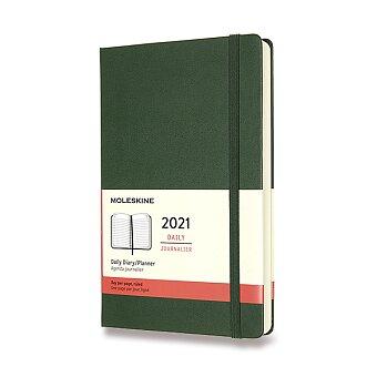 Obrázek produktu Diář Moleskine 2021 - tvrdé desky - L, denní, tmavě zelený