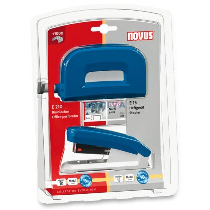 Obrázok produktu Novus set - kancelárska súprava - na 10/15 listov, modrá