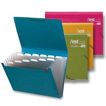 Obrázek produktu Aktovka na dokumenty Foldermate NEST Expanding Files - A4, 13 přihrádek, výběr barev