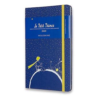 Obrázek produktu Diář Moleskine 2020 Le Petit Prince, tvrdé desky - L, týdenní, Planeta, modrý