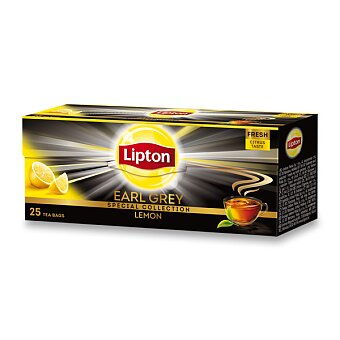 Obrázek produktu Černý čaj Lipton Earl Grey Lemon - 25 sáčků