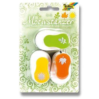 Obrázek produktu Děrovačka Folia ozdobná - motiv slunce, list, stonek s listy