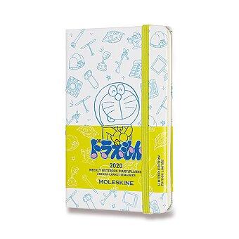 Obrázek produktu Diář Moleskine 2020 Doraemon, tvrdé desky - S, týdenní, bílý