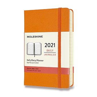 Obrázek produktu Diář Moleskine 2021 - tvrdé desky - S, denní, oranžový