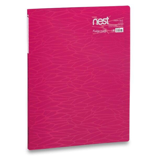 Katalogová kniha FolderMate Nest růžová