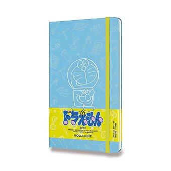 Obrázek produktu Diář Moleskine 2020 Doraemon, tvrdé desky - L, týdenní, modrý