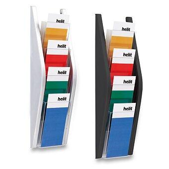 Obrázek produktu Nástěnný odkladač Helit - 4 x 1/3 A4, výběr barev