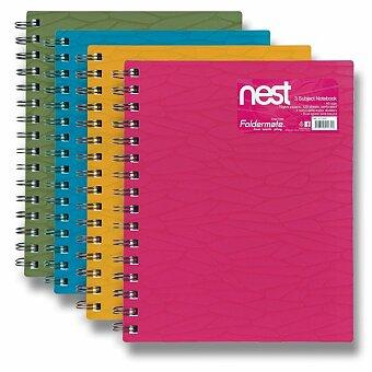 Obrázek produktu Spirálový blok FolderMate Nest - A5, linkovaný, 120 listů, výběr barev