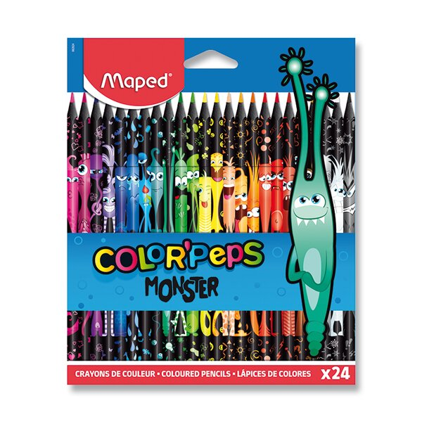 Pastelky Maped Color'Peps Monster 24 barev