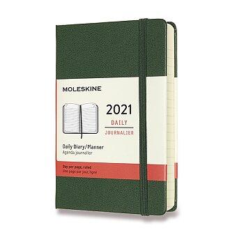 Obrázek produktu Diář Moleskine 2021 - tvrdé desky - S, denní, tmavě zelený