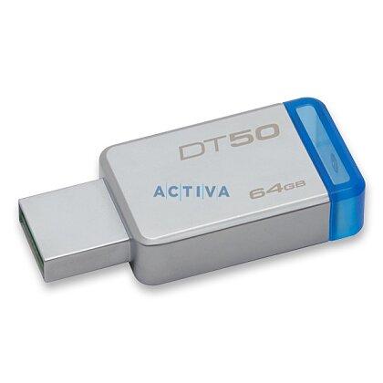 Obrázok produktu Kingston 64 GB DataTraveler DT50 (USB 3.0) - kovový/modrý