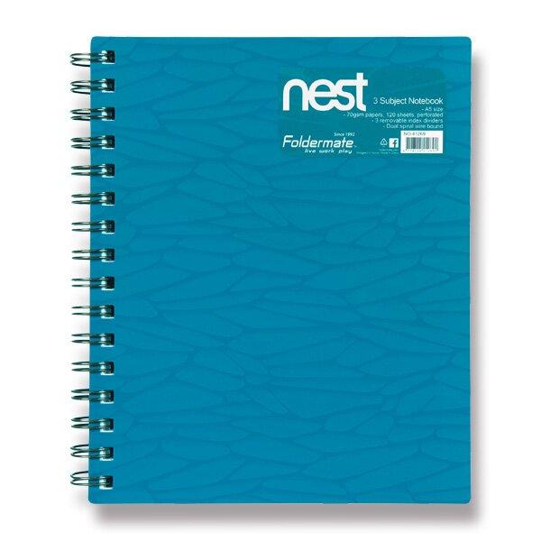 Spirálový blok FolderMate Nest modrý