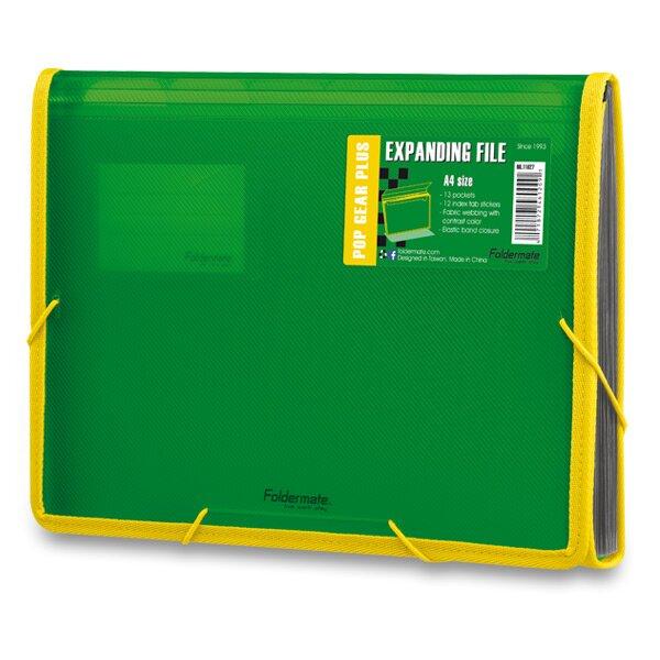 Desky na dokumenty FolderMate Pop Gear Plus zelená