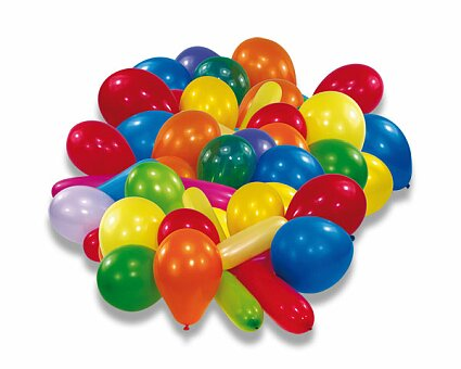 Obrázek produktu Nafukovací balónky - mix barev a tvarů - 20 ks