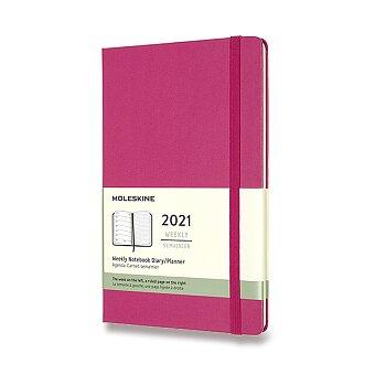 Obrázek produktu Diář Moleskine 2021 tvrdé desky - L, týdenní, výběr barev
