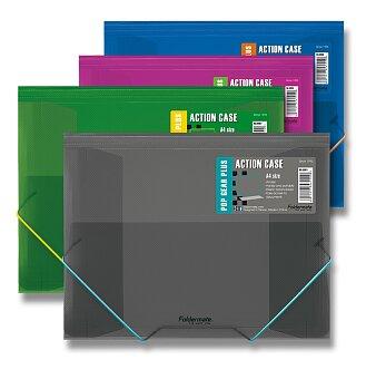 Obrázek produktu Tříchlopňové desky s gumou FolderMate Pop Gear Plus - A4, výběr barev