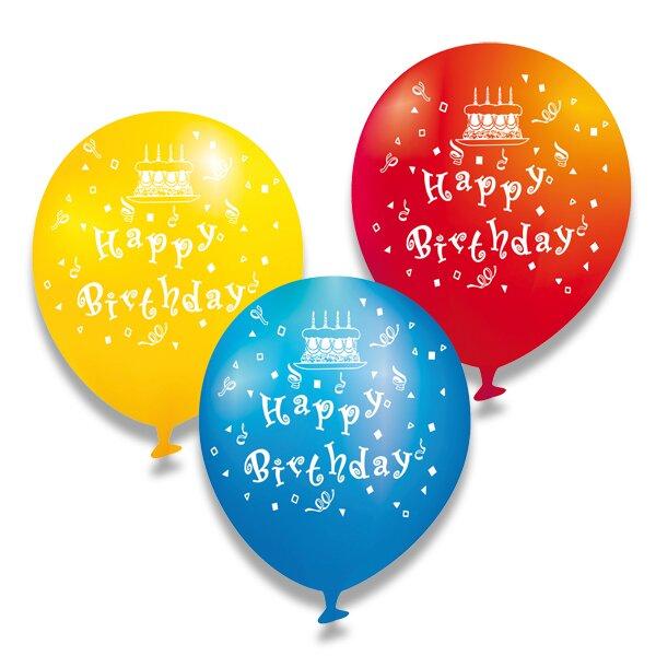 Nafukovací balónky - Happy Birthday 6 ks