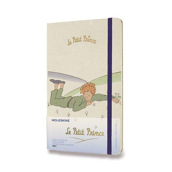 Diář Moleskine Le Petit Prince, tvrdé desky - L, týdenní, Planeta