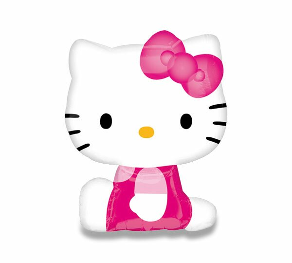 Fóliový party balónek 3D Hello Kitty, růžový