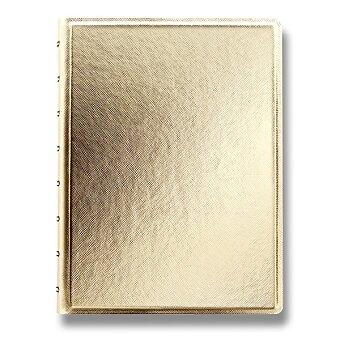 Obrázek produktu Zápisník A5 Filofax Notebook Saffiano - zlatý