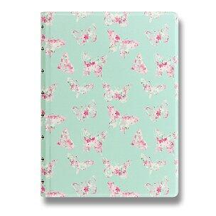 Zápisník A5 Filofax Notebook Butterflies