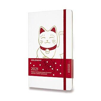 Obrázek produktu Diář Moleskine 2021 Maneki Neko - tvrdé desky - L, týdenní, bílý