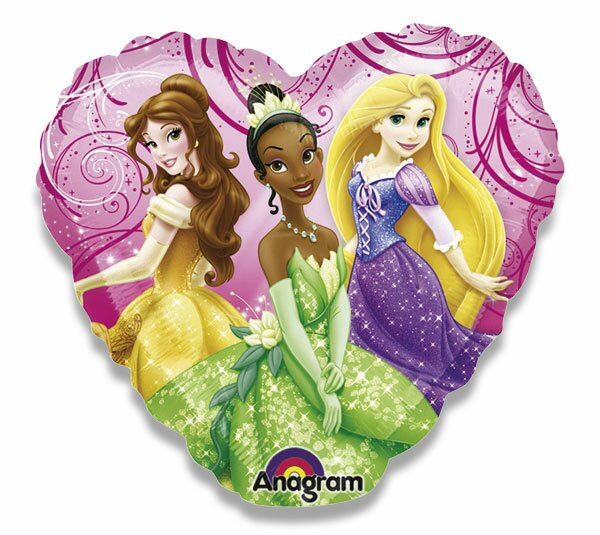 Fóliový party balónek kulatý Princezny