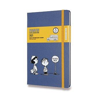 Obrázek produktu Diář Moleskine 2021 Peanuts - tvrdé desky - L, týdenní, Schoolbus