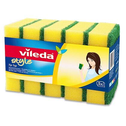 Obrázek produktu Vileda Tip Top Style - houbičky na nádobí, 5 ks