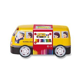 Obrázek produktu Dětské fixy Faber-Castell Connector - plechový autobus, 33 barev