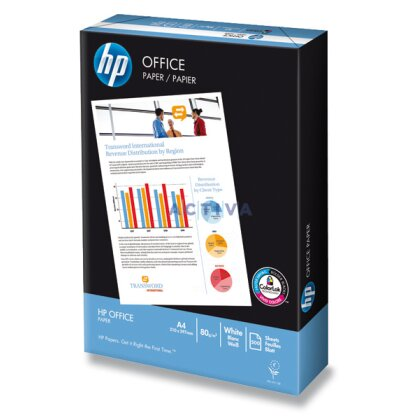 Obrázok produktu HP Office Paper - xerografický papier - A4, 80 g, 5 × 500 listov