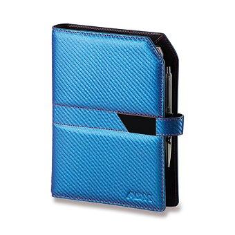 Obrázek produktu Kožený plánovací diář ADK Carbon Slim - A5, modrý
