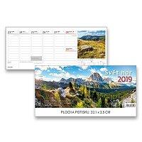 Stolní kalendář Svět hor