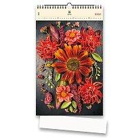 Nástěnný obrázkový kalendář Flowers