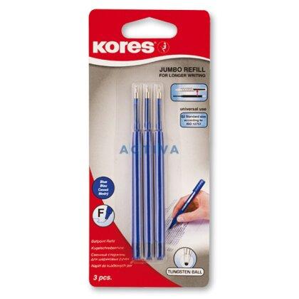 Obrázek produktu Kores K6 - náplň do kuličkové tužky - modrá, 3 ks