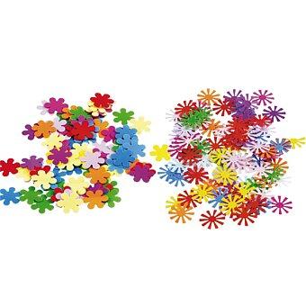 Obrázek produktu Barevné konfety květiny - 15 g, mix tvarů