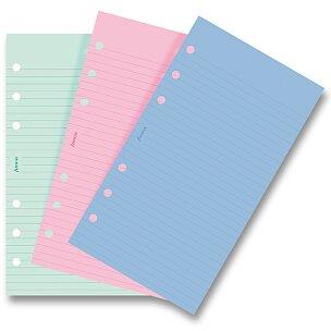 Poznámkový papír, linkovaný, 3 barvy